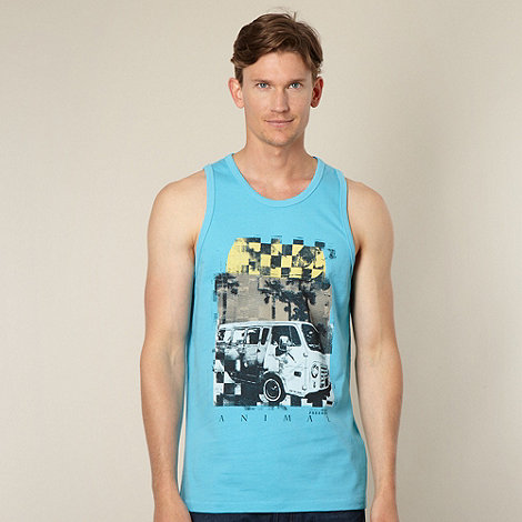 Animal - Blue bus print vest