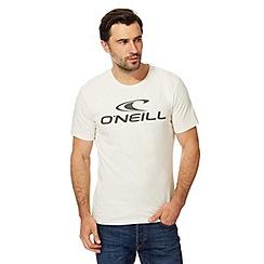 O'Neill - White logo print t-shirt