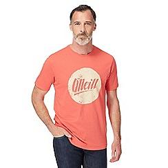 O'Neill - Orange logo print t-shirt