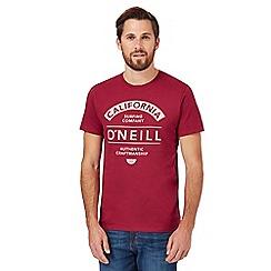 O'Neill - Dark pink logo print t-shirt