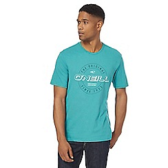 O'Neill - Turquoise badge print t-shirt