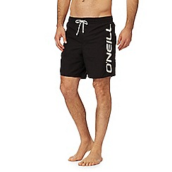 O'Neill - Black logo print swim shorts