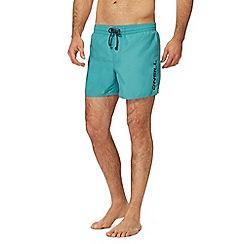 O'Neill - Turquoise logo print swim shorts