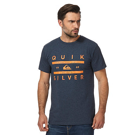 Quiksilver big and tall navy logo print t shirt debenhams for Big and tall printed t shirts