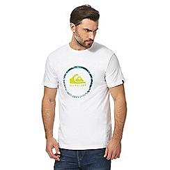 Quiksilver - Grey logo print t-shirt