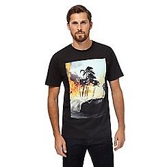 Quiksilver - Black tropical print t-shirt