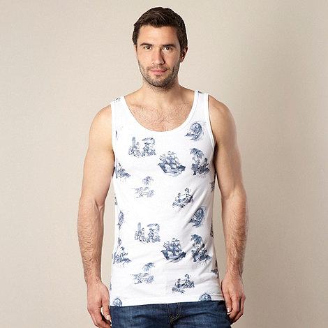 Quiksilver - White sketched motif vest top