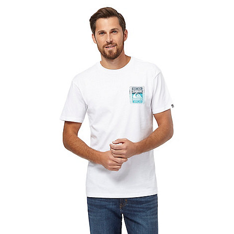 Quiksilver big and tall white logo print t shirt debenhams for Big and tall printed t shirts
