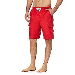 Mantaray - Red cargo swim trunks