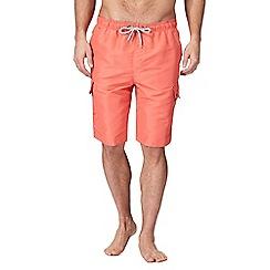 Mantaray - Big and tall orange cargo swim shorts