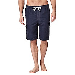 Mantaray - Big and tall navy cargo swim shorts