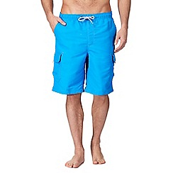 Mantaray - Big and tall blue cargo swim shorts