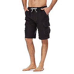 Mantaray - Black cargo swim trunks