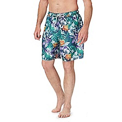 Mantaray - Green floral print swim shorts