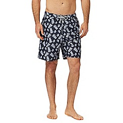 Mantaray - Big and tall navy pineapple print swim shorts
