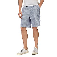 Mantaray - Blue printed cargo swim shorts