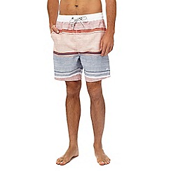 Mantaray - Orange striped swim shorts