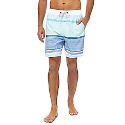 Mantaray - Big and tall blue striped swim shorts