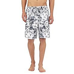Mantaray - Navy floral print swim shorts