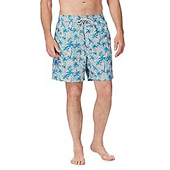 Mantaray - Light blue palm tree print swim shorts