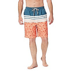 Mantaray - Orange printed swim shorts