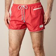 Red contrasting trimmed board shorts