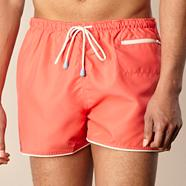 Pink plain tipped swim shorts