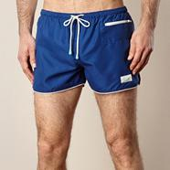 Dark blue contrasting trimmed board shorts