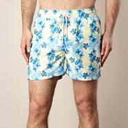 Blue tropical flower swim shorts
