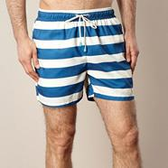 Navy classic striped swim shorts