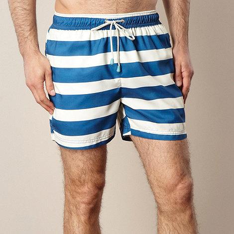 Oiler & Boiler - Navy classic striped swim shorts