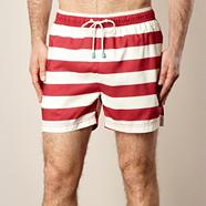 Red classic striped swim shorts