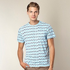Oiler & Boiler - Blue zig zag striped t-shirt
