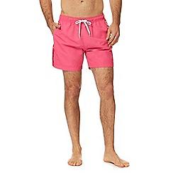 Calvin Klein - Pink logo tape swim shorts