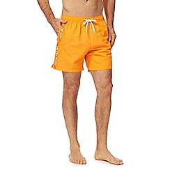 Calvin Klein - Orange logo tape swim shorts
