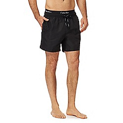 Calvin Klein - Black double waistband swim shorts
