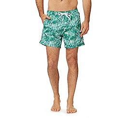 Calvin Klein - Green palm tree print swim shorts