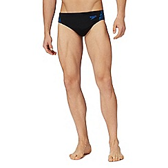 Speedo - Black embroidered logo swim briefs