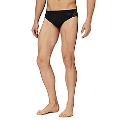 Speedo - Grey embroidered logo swim briefs