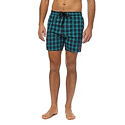 Speedo - Green checked swim shorts