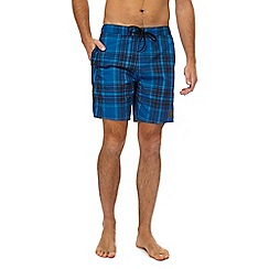 Speedo - Blue checked swim shorts