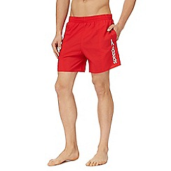 Speedo - Red logo print swim shorts