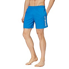 Speedo - Blue logo print swim shorts