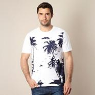 Navy palm tree printed t-shirt
