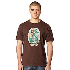 Protest - Brown mermaid print t-shirt