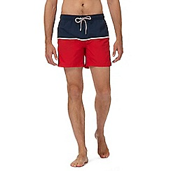 Gant - Red colour block swim shorts