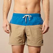 Natural colour block board shorts