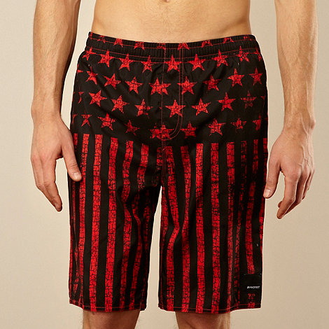 Protest - Black stars and stripes swim shorts