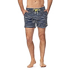 Gant - Navy and white striped swim shorts