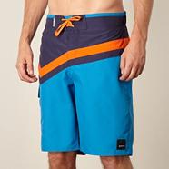 Blue panel swim shorts